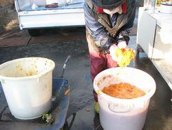 柿酢のしぼり1